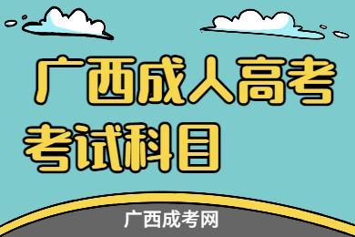 广西成人高考考试科目